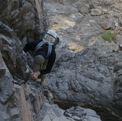 Exposed scrambling is involved in places, which can be protected with a rope if necessary. Easier ways always exist on the RSMT for any hikers who want something a bit more gentle.