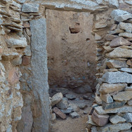 It is a world of stone made with rock from the nearby quarries. Old doorways are still standing today.