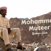 The RSMT runs through the lands of a Bedouin tribe called the Maaza & is always led by Bedouin guides. One of the best guides & most knowledgeable mountain men of the Maaza, this is Mohammed Muteer. He grew up in a nomadic family who lived the traditional Bedouin way, following the rains & scouting for greenery & grazing for their goats & sheep. He lives in the desert with his wife & young daughter Bushra. Mohammed walked thousands of kilometres in creating the RSMT - more than anybody else - & is one of its founders & head guides.
