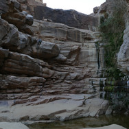 Close to the chapel is a pool the Bedouin call 'El Nagaata', meaning 'The Dripping Place'. It can be descended with an abseil or by a high path.