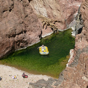 Multiple pools form in Wadi Abul Hassan after rains. The water is cold & outside the summer the desert can be chilly too. Swimming through pool after pool all day isn't really an option. For swimmers the only real option from autumn to spring is to use a wetsuit.