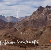 The Bedouin have a rich vocabulary for describing the landscape. Many kinds of landscape feature are identified & each has its own name. A wide vocabulary was key to desert survival: it allowed the Bedouin to describe & understand the world around them, helping them navigate precisely & safely in a land with little margin for error. Here are a few common landscape words for a hike, which we'll add to in the following days: 'jebel' is a mountain & 'wadi' a valley. A 'roath' is a small & usually steep, rocky watercourse joining a bigger wadi. A 'naqb' is a natural travelling route in a landscape - usually crossed with a trail - most commonly used to describe a high mountain pass. A 'jidda' is a line of coloured rock in the mountainside, known in English as a 'dike'. A 'shigeef' is a steep mountain gully. You can find at least two of almost every landscape feature in this pic but some are easier to spot than others...