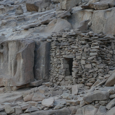 Christians lived in caves or small dwellings called 'hermit cells' or 'hermitages'. They spent months, years & decades alone in these cells, sometimes until the end of their lives. They ate the bare minimum to survive & drank sporadically. Many deprived themselves of sleep. They shunned conversation & human interaction. It was through the hardest deprivations they believed the most powerful spiritual freedom & insight was found. The early pioneers of this lifestyle were Egypt's St Paul & St Anthony, who both abandoned the Nile Valley for the desert. Today two monasteries stand in the northern parts of the Red Sea Mountains which bear their names, said to be the oldest Christian monasteries in the world.