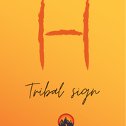 A 'wasm' is a tribal signature. Every Bedoiun tribe has its own wasm. Sometimes clans within a bigger tribe have their own wasm too. This 'H' shaped wasm is the wasm of the Khushmaan clan of the Maaza tribe, who live around the RSMT. Wasms are widely known by the Bedouin & show the tribe to whom any camel belongs, even if it wanders into the lands of a different tribe. The Bedouin sometimes scratch wasms onto rocks too, to designate tribal territory.