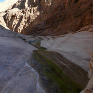 Wadi Abul Hassan is beautiful gorge that twists through high mountains & thin films of water can be found trickling over the rocks.