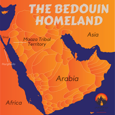 We've seen how the Bedouin follow the rain for water & grazing. We've seen their survival skills & heard their proverbs & stories so far. But who are the Bedouin? And where did they come from? The Bedouin are nomadic pastoralists who trace their roots to the vast deserts of Arabia. Arabia was for thousands of years - & remains in places today - a patchwork of different tribes. Each tribe had its own name, history & territory. About 1500 years ago some of these tribes began to move out of Arabia looking for new lands in the Sinai, North Africa & other places. Migrations continued upto recent centuries. The Bedouin of Egypt are the descendants of these Arab tribes & have maintained their old way of life for centuries. Even today, the Bedouin do not call themselves Bedouin; an outsider's term. They know themselves simply as 'El Arab', acknowledging their Arab blood, history & homeland.