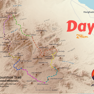 At 24km day 8 is the longest day on the RSMT & is highlighted green. It begins on the northernmost section of the trail below Jebel Abu Dukhaan, before crossing a high pass & moving into wide, sweeping plains that divide the eastern and western halves of the Red Sea Mountains.