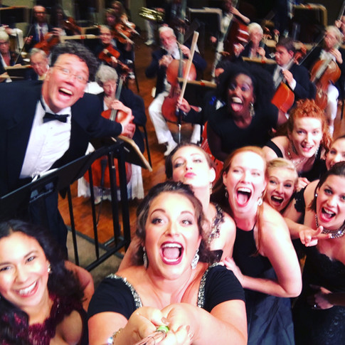 The FIRST, and most epic on-stage selfie, Chautauqua Opera Highlights Concert, 2016