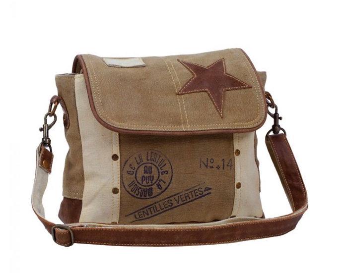 Myra Leather Star Shoulder Bag