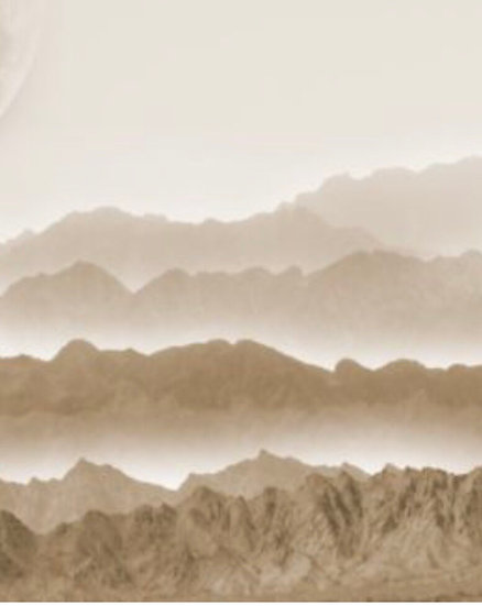 Misty Mountains Decoupage Paper