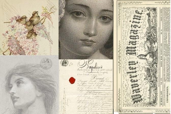 Romantic Project Decoupage Paper