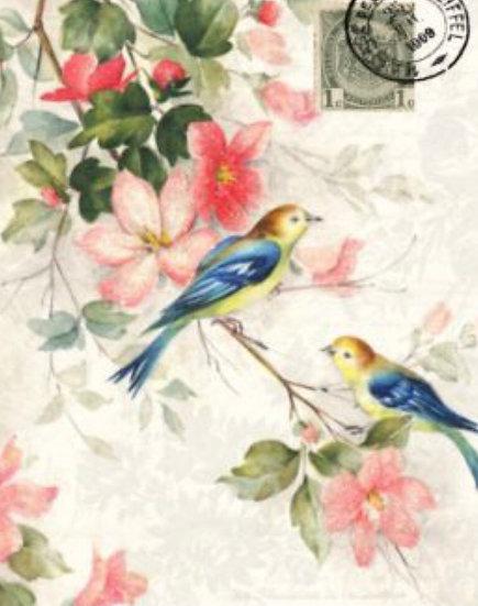 Blue Winged Birds Decoupage Paper
