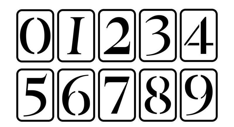 "5"" Numbers JRV Stencils"