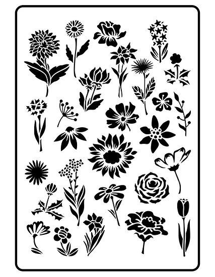 Flower Garden JRV Stencils