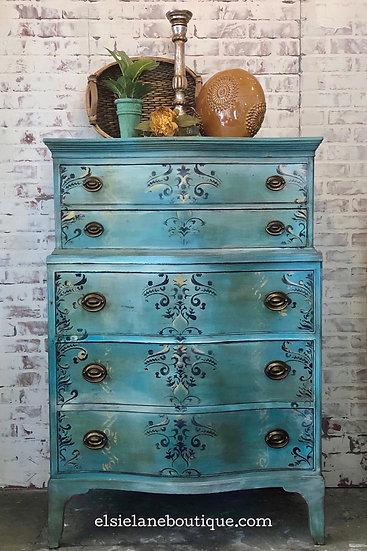 Five Drawer Blended Dresser
