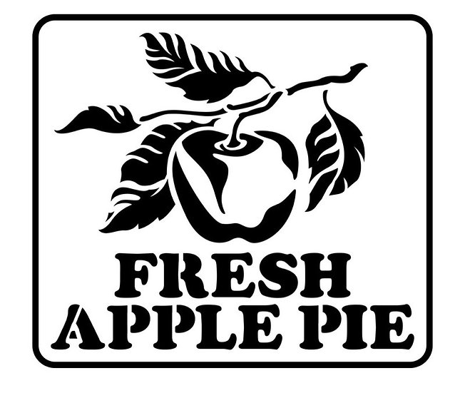 Fresh Apple Pie JRV Stencil