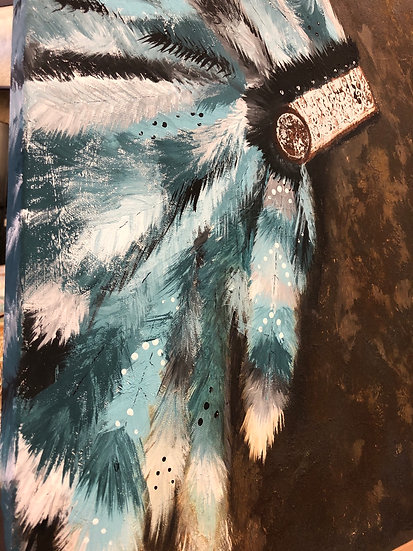 Indian Headdress painting on canvas