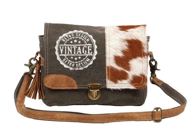 Myra Vintage Stamp Messenger Bag