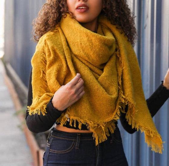 Mustard Yellow Blanket Scarf