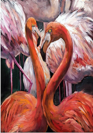 Flamingo - Decoupage