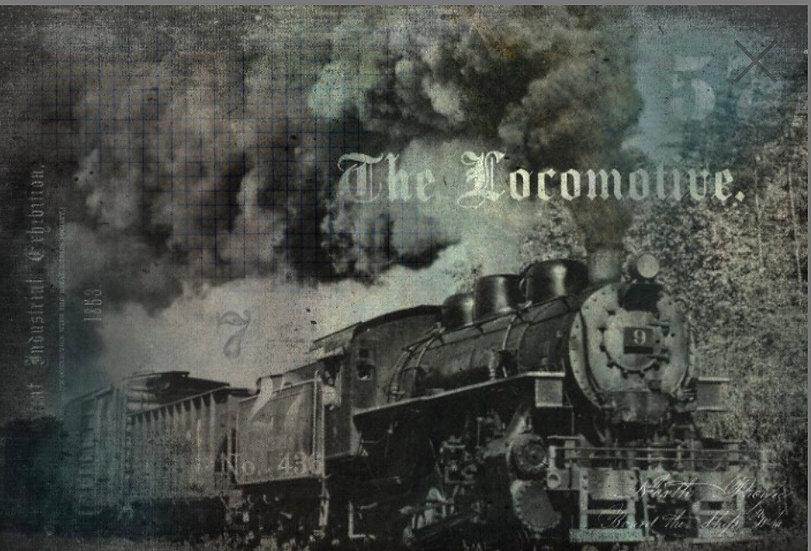 The Locomotive Decoupage Paper