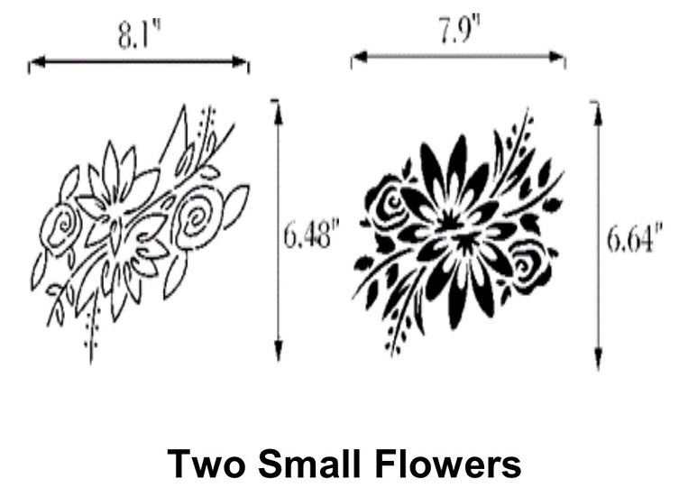 Two Small Flowers Stencils