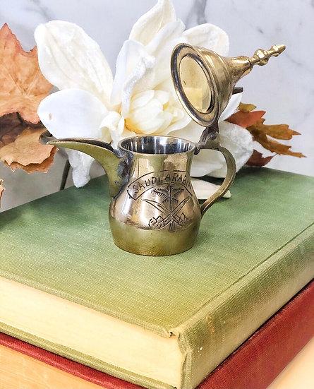 Vintage brass genie lamp