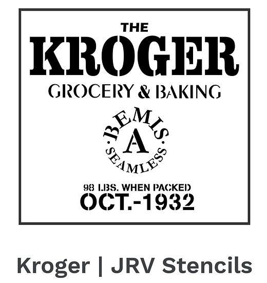 Kroger Stencil