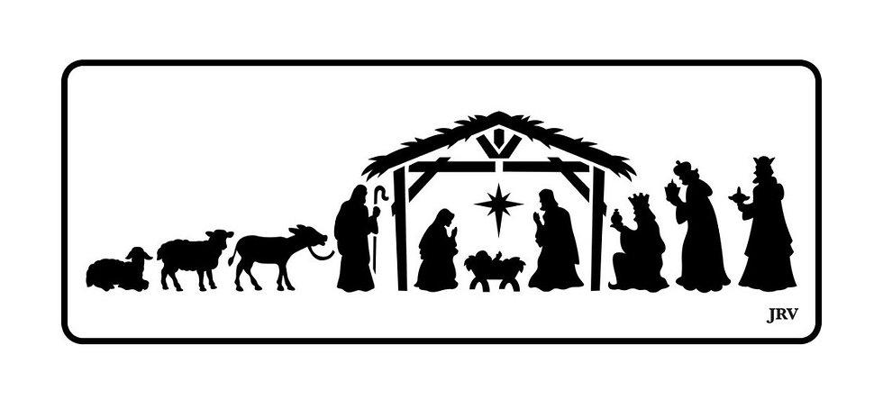 Nativity Scene JRV Stencils