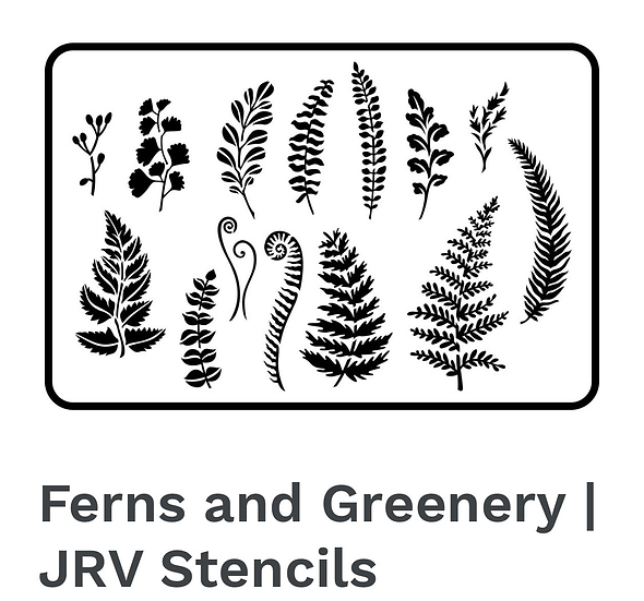 Ferns and Greenery Stencils