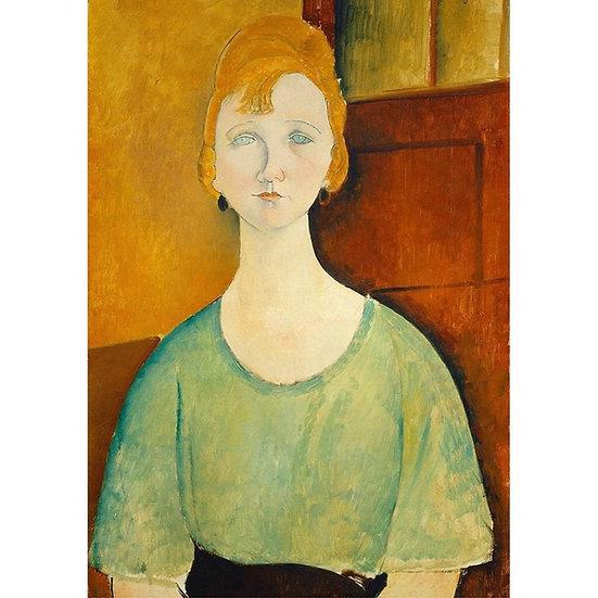 Woman In Green Top - Decoupage