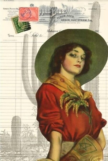 Cowgirl (Whiskey Girl) Decoupage Paper