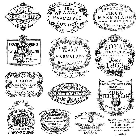 Crockery Decor Stamp (12 x 12)
