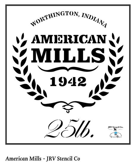 American Mills Stencil