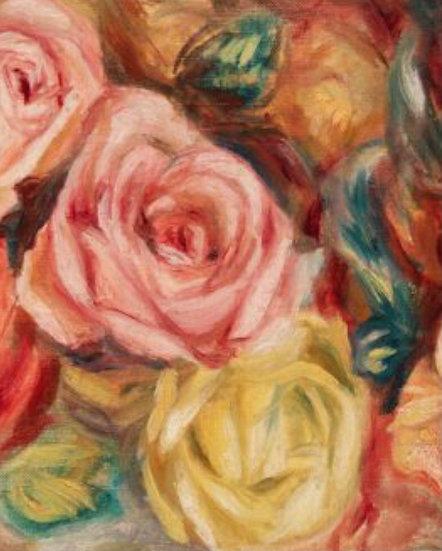 Textured Florals (Left) Decoupage Paper