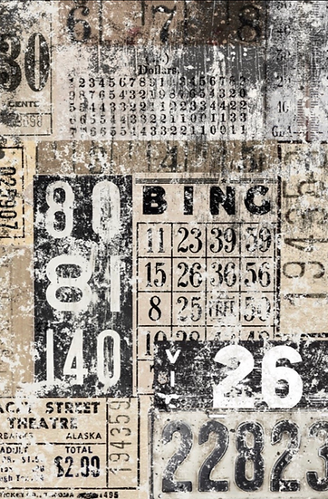 Grunge Number Decoupage Paper