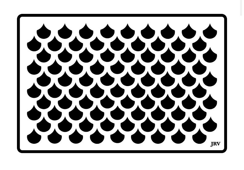 Mermaid Scales JRV Stencils