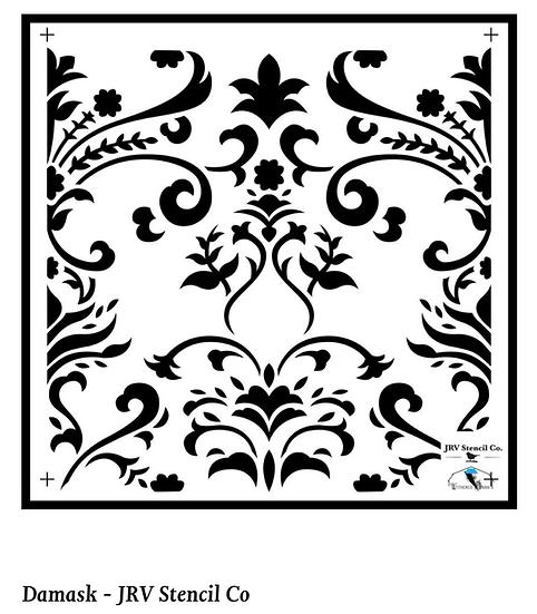 Damask Tile Stencil