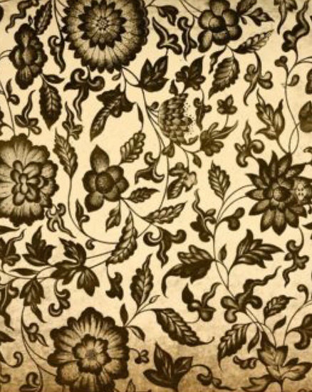 Grungy Floral Decoupage Paper