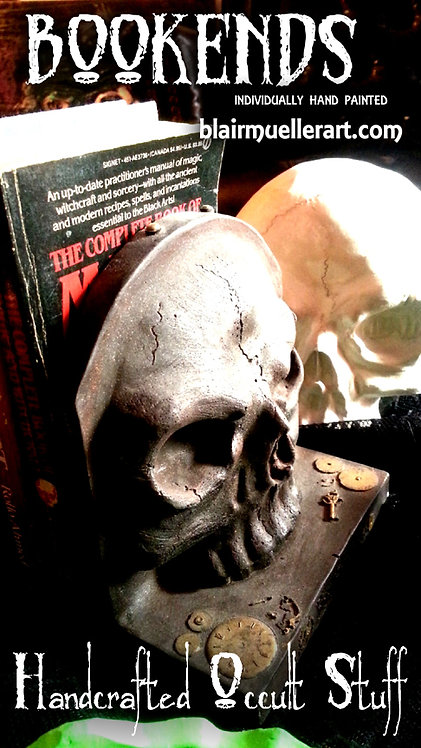 Skull Book Ends (set of 2)