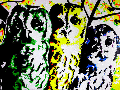 Three Owls Sitting in a Tree