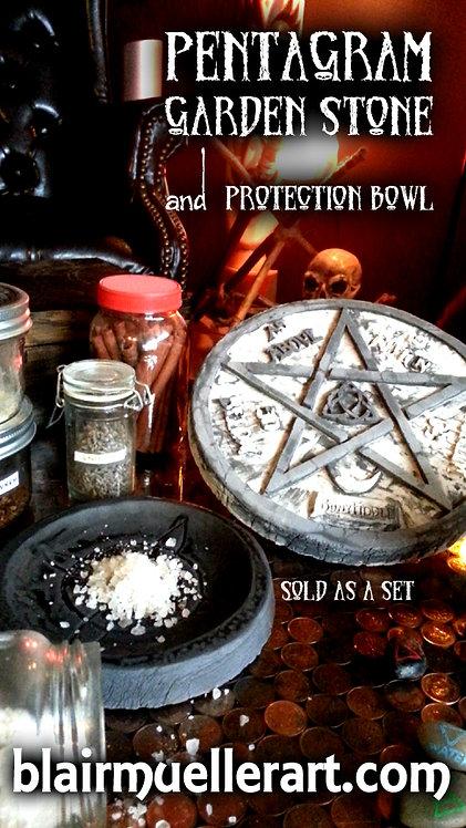 Pentagram Stone - Protection Bowl Set