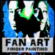 Blair Mueller Art | Acrylic Finger Painting | Fan Art Series