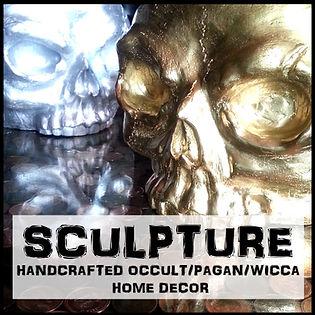 Blair Mueller Art | Sculpture, Mold Makig, Casting | Skulls, Pagan, Occult, Wicca