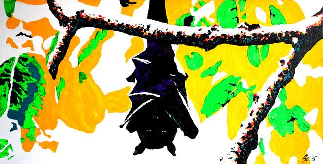 Hanging Bat in Tree