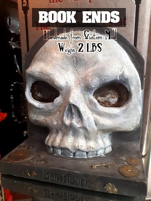 Book Ends - White Skull (pair)
