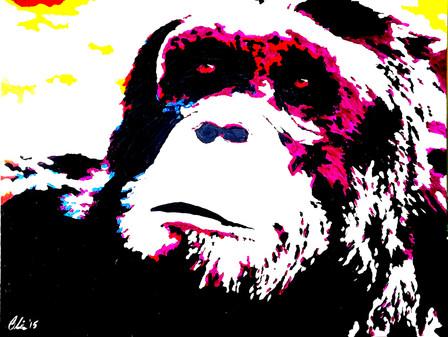 Chimp Contemplating Life