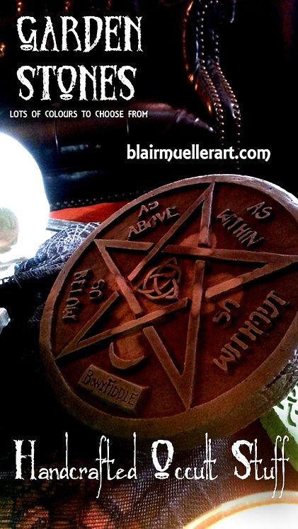Pentagram Garden Stone