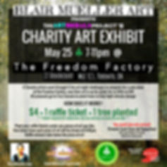 The Art Nebula Project Chaity Art Exhibit Poster