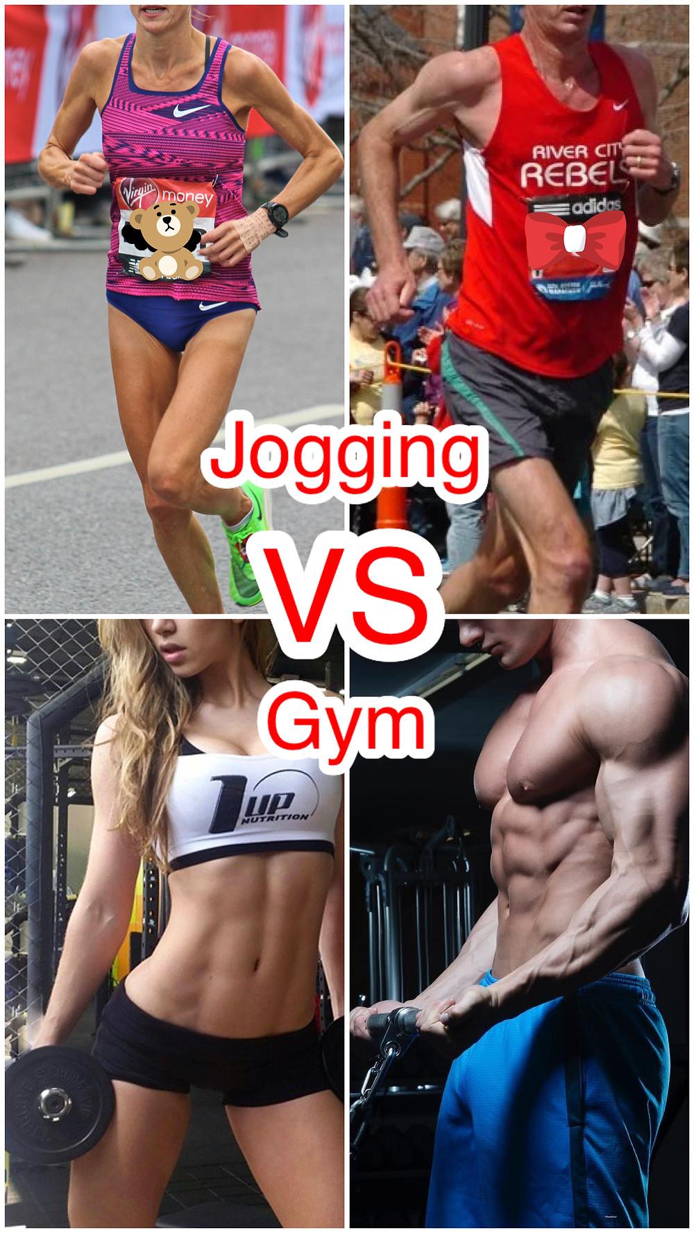 Jogging vs gym body shapes